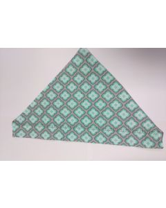Teal Floral Pattern with Grey (clearance)